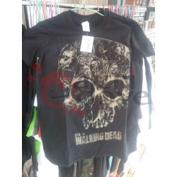 T-shirt  The Walking Dead skull     Amc Magliette