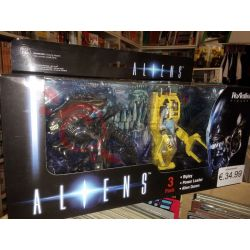 Aliens 3pk - Ripley Powerloader Alien Queen (Figure)    ReAction Figures Funko Action Figure