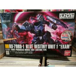 "RX-79BD-1 Blue Destiny unit 1 ""Exam"" E.F.S.F. First Produced Mobile Suit Custom Type 0216740-1600   GunPLa 1/144 Bandai Scatola"