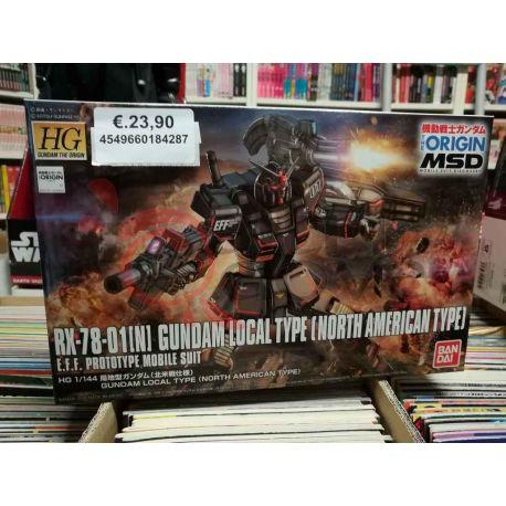RX-78-01[N] Gundam Local Type (North American Type) E.F.F. Prototype Mobile Suit 0218428-2000   GunPLa 1/144 Bandai Scatola Di M