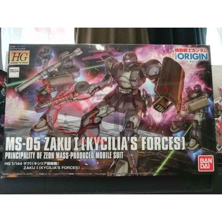 MS-05 Zaku I (Kycilia's Forces) Principality of Zeon Mass-Produced Mobile Suit 0219764-1700   GunPLa 1/144 Bandai Scatola Di Mon