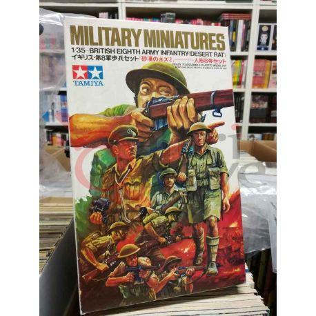 British Eighth Army Infantry (Desert Rat) 3532   Military Miniatures Tamiya Scatola Di Montaggio