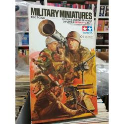 U.S. Gun & Mortar Team Kit 35086   Military Miniatures Tamiya Scatola Di Montaggio