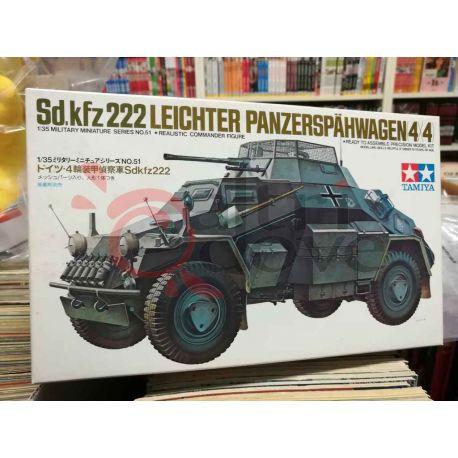 Sd.Kfz.222 Leichter panzerspahwagen 4x4 51   Military Miniatures Tamiya Scatola Di Montaggio