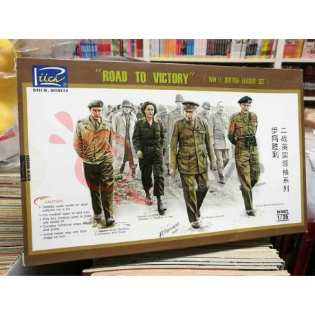 Road to Victory WWII British Leader Figures Kit RV35023    Riich Scatola Di Montaggio