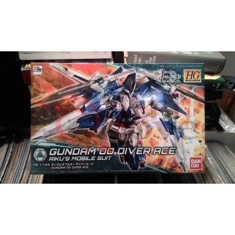 Gundam 00Diver Ace Riku's Mobile Suit 0225756-2000   GunPLa 1/144 Bandai Scatola Di Montaggio