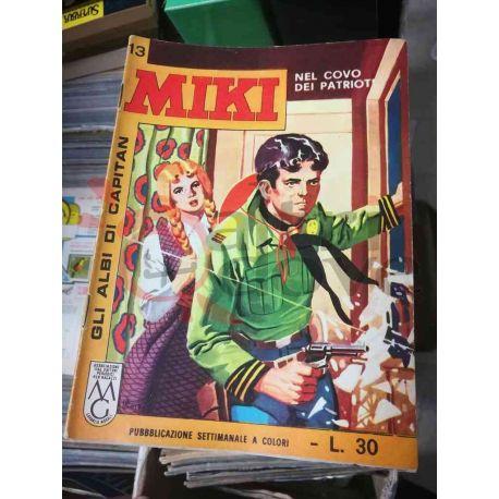 Gli Albi di Capitan Miki settimanale L.30 13    Casa Editrice Dardo Italiani