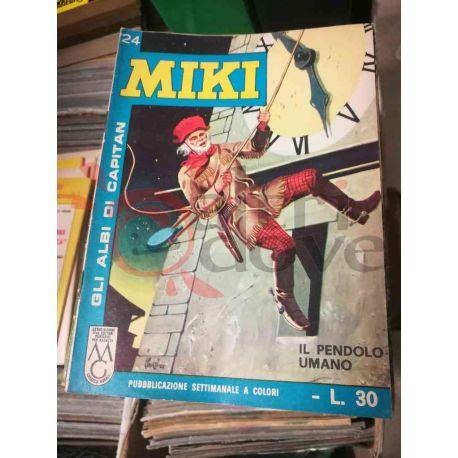 Gli Albi di Capitan Miki settimanale L.30 24    Casa Editrice Dardo Italiani