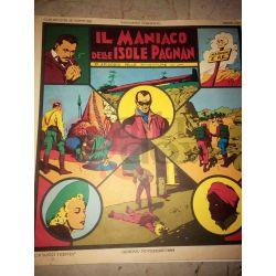 9' episodio delle avventure di Jim - Il maniaco delle isole Pagnan    Albi Grandi Avventure Club Anni 30 Vintage