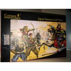 Japan Samurai with Ninja scala 1:72     Caesar Miniatures Scatola Di Montaggio