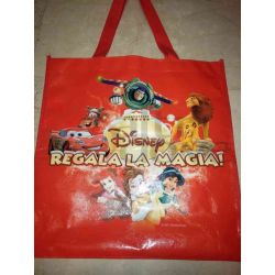 Shopper Disney Personaggi Rossa Plastica     Disney Borse