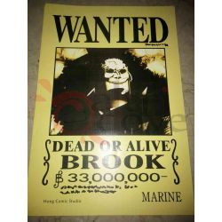 One Piece - WANTED Poster - Brook     Hong Comic Studio Parete