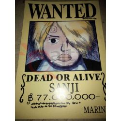 One Piece - WANTED Poster - Sanji     Hong Comic Studio Parete