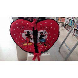 Cuscino cuore san Valentino Minnie e Topolino     Disney Plush