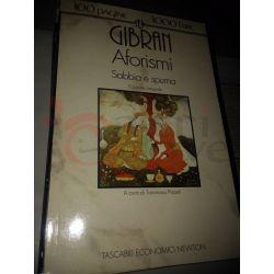 Aforismi Sabbia e spuma  GIBRAN Kahlil Gibran  100 pagine 1000 lire Newton Vintage