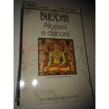 Aforismi e discorsi  BUDDHA  100 pagine 1000 lire Newton Vintage