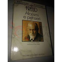 Aforismi e pensieri  FREUD Sigmund  100 pagine 1000 lire Newton Vintage