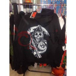 Felpa con cappuccio Sons of Anarchy: fear the reaper (nera)     20th Century Fox Magliette
