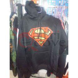 Felpa con cappuccio Superman (nera)    DC Warner Bros. Magliette
