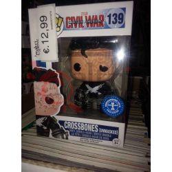 Crossbones unmasked (underground toys exclusive) 139   POP Marvel Bobble-Head Funko Action Figure