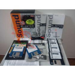 BOX Sound Blaster PRO bundle lemmings indianapolis 500 Floppy VINTAGE SB-1600    Creative Tech
