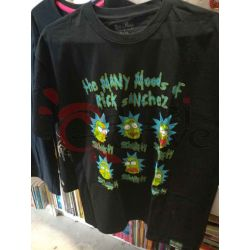 T-shirt Rick and Morty: Many Moods of Morty Black tgl.M      Magliette