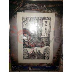 Poster cm.25.5x36.5 con cornice - ICHIBAN KUJI SET    L'attacco dei Giganti Bandai Parete