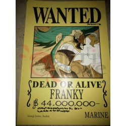 One Piece - WANTED Poster - Franky     Hong Comic Studio Parete