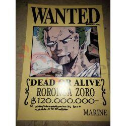 One Piece - WANTED Poster - Roronoa     Hong Comic Studio Parete