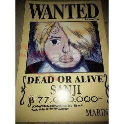 One Piece - WANTED Poster - Sanji     Hong Comic Studio Parete