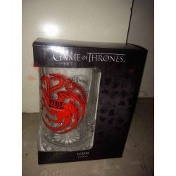 Boccale in vetro con manico Fire Blood Targaryen    Game of Thrones  Tazze