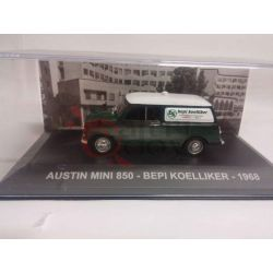 Austin Mini 850 Bepi Koelliker 1968    Veicoli pubblicitari d'epoca eaglemoss Vintage