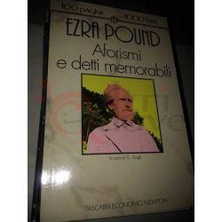 Aforismi e detti memorabili  POUND Ezra  100 pagine 1000 lire Newton Vintage