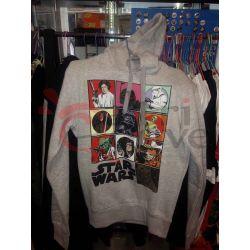 Felpa con cappuccio Star Wars (grigia)    Star Wars  Magliette